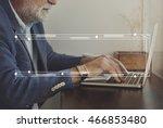 badge copy space banner label... | Shutterstock . vector #466853480
