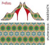 vector fashion illustration ...   Shutterstock .eps vector #466856474