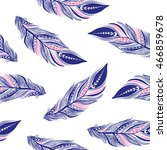 feathers seamless pattern | Shutterstock .eps vector #466859678