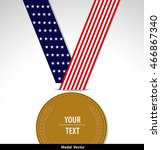 vector of gold medal isolated... | Shutterstock .eps vector #466867340