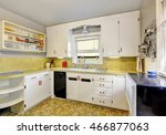 old fashioned kitchen with... | Shutterstock . vector #466877063