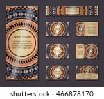 invitation card collection.... | Shutterstock .eps vector #466878170