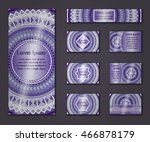 invitation card collection.... | Shutterstock .eps vector #466878179