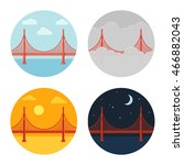 Golden Gate Bridge Icon Set....