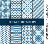 set of vector geometric... | Shutterstock .eps vector #466885640