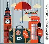 illustration of london with... | Shutterstock . vector #466888274