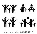family icons and symbol  vector ... | Shutterstock .eps vector #466895210