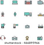 electronic device line color... | Shutterstock .eps vector #466895966