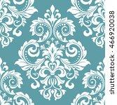 floral pattern. wallpaper... | Shutterstock . vector #466920038