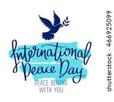 international day of peace....   Shutterstock .eps vector #466925099