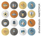school and education icon set.... | Shutterstock . vector #466925414