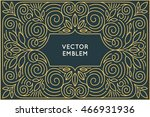 vector poster design template... | Shutterstock .eps vector #466931936