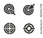 target vector icons set.... | Shutterstock .eps vector #466941758