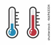thermometer icon set | Shutterstock .eps vector #466963334
