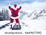 Santa Claus And Reindeer Cry