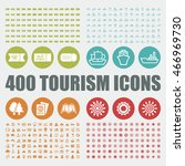 tourism icons. travel vector... | Shutterstock .eps vector #466969730