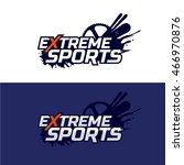 extreme sports logo. snowboard  ... | Shutterstock .eps vector #466970876