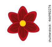 flat design tropical flower...   Shutterstock .eps vector #466982276