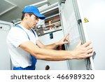 electrician engineer inspector... | Shutterstock . vector #466989320