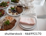 tableware. cold meats | Shutterstock . vector #466992170