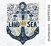 land and sea. hand drawn... | Shutterstock .eps vector #466993166