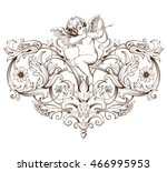vintage decorative element... | Shutterstock .eps vector #466995953