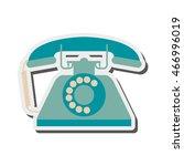 flat design retro rotary... | Shutterstock .eps vector #466996019
