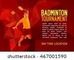 badminton player  vector... | Shutterstock .eps vector #467001590