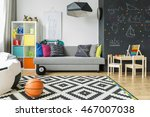 shot of a schoolboy room with a ... | Shutterstock . vector #467007038