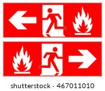 emergency fire exit left  ... | Shutterstock .eps vector #467011010