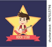 rockstar illustration design ... | Shutterstock .eps vector #467015798