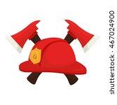 hat fireman fire department cap ... | Shutterstock .eps vector #467024900