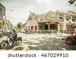 Small photo of GEORGETOWN, PENANG, MALAYSIA - August 06, 2016: The Choo Chay Keong Temple adjoined to Yap Kongsi clan house, Armenian Street, George Town, Penang, Malaysia