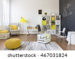 interior of baby room with... | Shutterstock . vector #467031824
