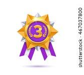 vector bronze medal... | Shutterstock .eps vector #467037800