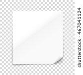 vector paper sheet isolated on... | Shutterstock .eps vector #467041124
