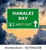 hanalei bay road sign against... | Shutterstock . vector #467046338