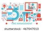 modern flat thin line design... | Shutterstock .eps vector #467047013