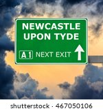 newcastle upon tyde road sign... | Shutterstock . vector #467050106