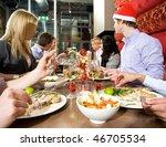 group of friends enjoying their ... | Shutterstock . vector #46705534