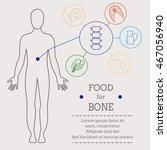 food for bone. healthy food... | Shutterstock . vector #467056940