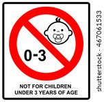 prohibition sign for children...