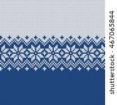 winter sweater design. fairisle ... | Shutterstock .eps vector #467065844