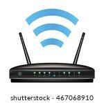 wireless ethernet modem router | Shutterstock .eps vector #467068910