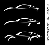 car vehicle silhouette icons... | Shutterstock .eps vector #467075240