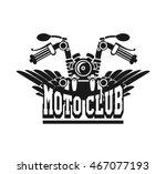 vector motorcycle club emblem... | Shutterstock .eps vector #467077193