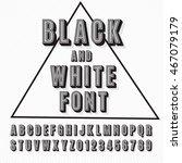 vector retro 3d font with... | Shutterstock .eps vector #467079179