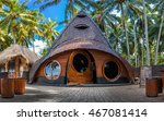 unusual bamboo house from... | Shutterstock . vector #467081414