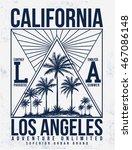 los angeles  california...   Shutterstock .eps vector #467086148
