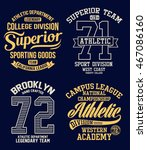 college vector label and print... | Shutterstock .eps vector #467086160
